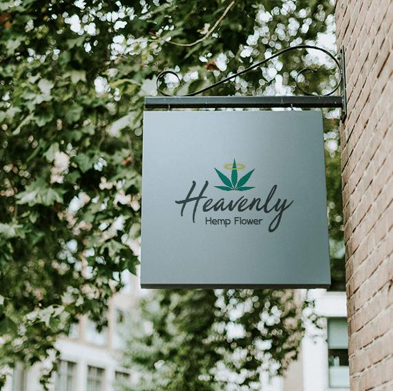 Heavenly Hemp Flower Logo